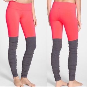 Alo yoga Goddess legging coral and gray